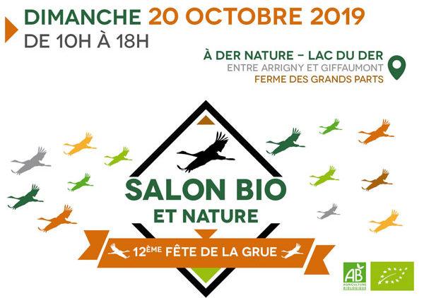 Salon Bio et Nature de la Fête de la Grue – Dimanche 20 octobre 2019