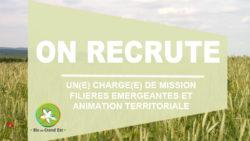 Recrutement : Chargé(e) de mission «Filières émergeantes et animation territoriale»