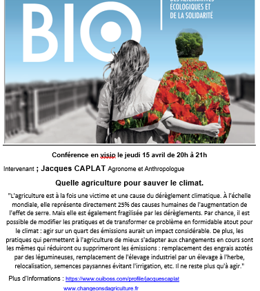 VISIO : Quelle agriculture pour sauver le climat