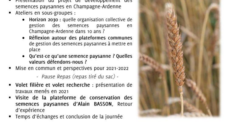 Rencontre autour des semences paysannes – Structuration d'une organisation collective en Champagne-Ardenne