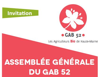 Assemblée Générale du GAB 52