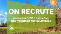 Recrutement : Chargé(e) de missions « Biodiversité et AB »