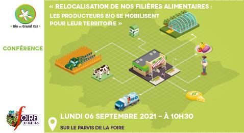 Conférence «Relocalisation de nos filières alimentaires : les producteurs bio se mobilisent pour leur territoire» – Foire de Chalons 2021