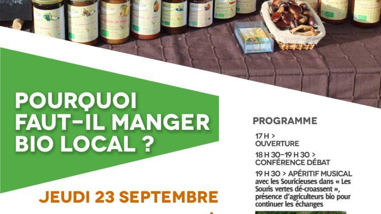 Conférence Apéro : «Pourquoi faut-il manger Bio Local ?»