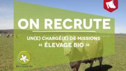 Recrutement : Chargé(e) de mission « élevage »
